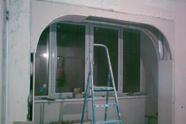 Арка окна из гипсокартона своими руками 6876